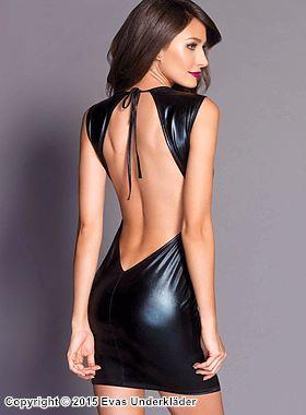 Elegant lamé-klänning med öppen rygg